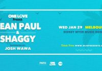 One Love Presents – Sean Paul & Shaggy (Melbourne)
