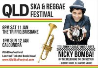 Nicky Bomba! QLD Ska & Reggae Festival-Sun 12 Jan (1-6pm)